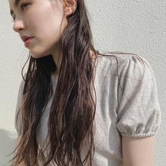 ゆるウェーブ ナチュラル ゆるナチュラル ロング ヘアスタイルや髪型の写真・画像