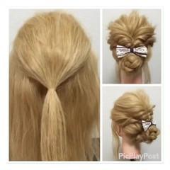 結婚式 ヘアアレンジ 簡単ヘアアレンジ 二次会 ヘアスタイルや髪型の写真・画像