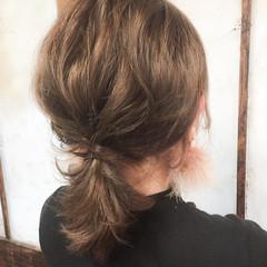 ポニーテール 外国人風 ミディアム ショート ヘアスタイルや髪型の写真・画像