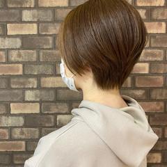 イルミナカラー ショート 大人ショート 小顔ショート ヘアスタイルや髪型の写真・画像