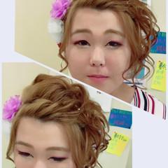 ヘアアレンジ 和装 ガーリー 簡単ヘアアレンジ ヘアスタイルや髪型の写真・画像