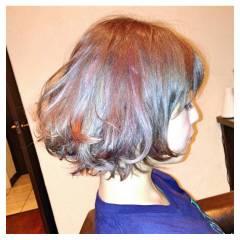 モード ストリート ボブ ヘアスタイルや髪型の写真・画像