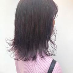 ピンク ピンクラベンダー ガーリー ピンクバイオレット ヘアスタイルや髪型の写真・画像