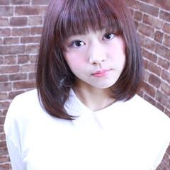 ミディアム 大人かわいい ピンク フェミニン ヘアスタイルや髪型の写真・画像