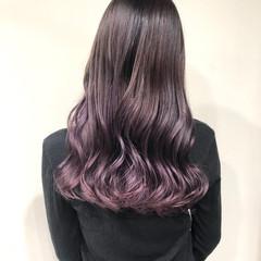 パープル ラベンダー ラベンダーアッシュ ラベンダーピンク ヘアスタイルや髪型の写真・画像
