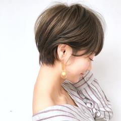 アンニュイほつれヘア スポーツ オフィス ショート ヘアスタイルや髪型の写真・画像