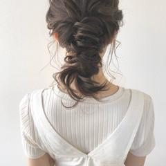 ヘアアレンジ ミディアム ナチュラル 大人可愛い ヘアスタイルや髪型の写真・画像