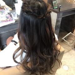 ガーリー ロング アッシュ ヘアアレンジ ヘアスタイルや髪型の写真・画像