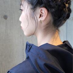 モード 暗髪 ヘアアレンジ 黒髪 ヘアスタイルや髪型の写真・画像