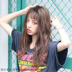 ハイライト アッシュ ストリート 前髪あり ヘアスタイルや髪型の写真・画像
