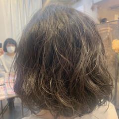 ナチュラル ボブ ゆるふわパーマ ヘアスタイルや髪型の写真・画像