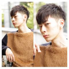 ショート 刈り上げ メンズ ボーイッシュ ヘアスタイルや髪型の写真・画像