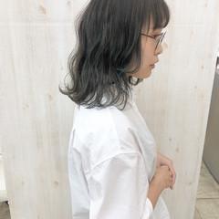 アッシュベージュ ナチュラル ボブ くすみカラー ヘアスタイルや髪型の写真・画像