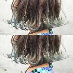 ストリート ボブ ブリーチ 透明感 ヘアスタイルや髪型の写真・画像