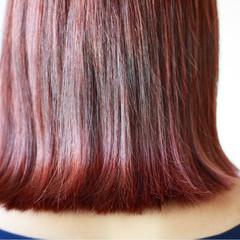 ボルドー カッパー ロブ 女子力 ヘアスタイルや髪型の写真・画像
