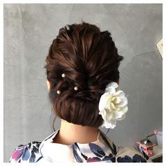 フェミニン 色気 夏 セミロング ヘアスタイルや髪型の写真・画像