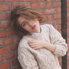 外国人風 大人かわいい ボブ ナチュラル ヘアスタイルや髪型の写真・画像