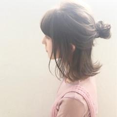 こなれ感 ミディアム ヘアアレンジ 外ハネ ヘアスタイルや髪型の写真・画像