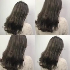 ブリーチ ストリート セミロング ダブルカラー ヘアスタイルや髪型の写真・画像