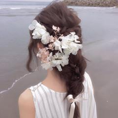 色気 ロング 涼しげ 結婚式 ヘアスタイルや髪型の写真・画像