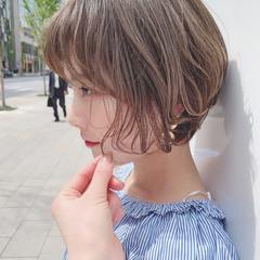ナチュラル デート ヘアアレンジ ショート ヘアスタイルや髪型の写真・画像
