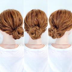 フェミニン セルフヘアアレンジ アップスタイル ヘアアレンジ ヘアスタイルや髪型の写真・画像