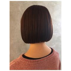 モテボブ ボブ ミニボブ 切りっぱなしボブ ヘアスタイルや髪型の写真・画像