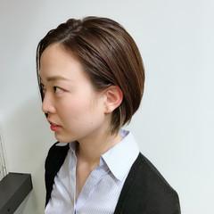 似合わせ ショート 小顔 ナチュラル ヘアスタイルや髪型の写真・画像