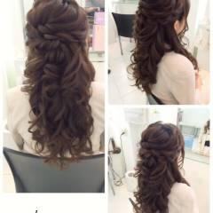 二次会 コンサバ ヘアアレンジ 大人女子 ヘアスタイルや髪型の写真・画像