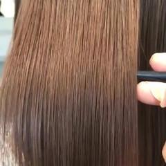 ストレート トリートメント ナチュラル 美髪 ヘアスタイルや髪型の写真・画像