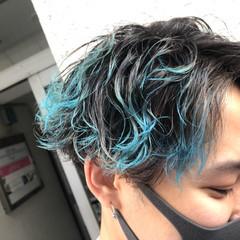 メンズカラー ショート メンズヘア ストリート ヘアスタイルや髪型の写真・画像