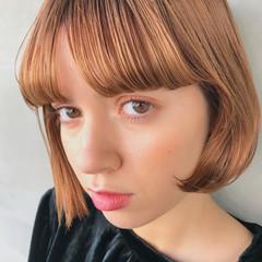 大人かわいい ボブ ハイトーン パーマ ヘアスタイルや髪型の写真・画像