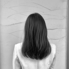 グレージュ デート ミディアム フェミニン ヘアスタイルや髪型の写真・画像