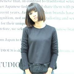 モード 大人女子 ボブ 外国人風 ヘアスタイルや髪型の写真・画像
