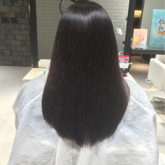ナチュラル ロング ストレート 艶髪 ヘアスタイルや髪型の写真・画像