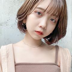 韓国ヘア ボブ デジタルパーマ ナチュラル ヘアスタイルや髪型の写真・画像