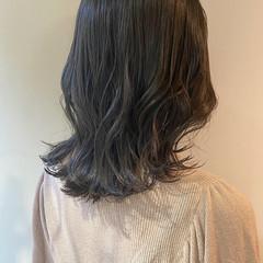 韓国ヘア インナーカラー アッシュグレージュ ナチュラル ヘアスタイルや髪型の写真・画像