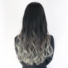 外国人風カラー イルミナカラー 黒髪 ロング ヘアスタイルや髪型の写真・画像