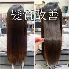髪質改善トリートメント 髪質改善カラー ロングヘア ロング ヘアスタイルや髪型の写真・画像