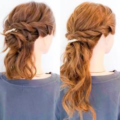ロング 簡単ヘアアレンジ ショート ヘアアレンジ ヘアスタイルや髪型の写真・画像