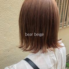 ボブ ミルクティーブラウン ナチュラルベージュ ミルクティーベージュ ヘアスタイルや髪型の写真・画像