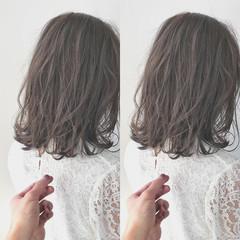 イルミナカラー 3Dハイライト ナチュラル ショートボブ ヘアスタイルや髪型の写真・画像