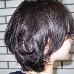 アッシュ ショート 黒髪 暗髪 ヘアスタイルや髪型の写真・画像