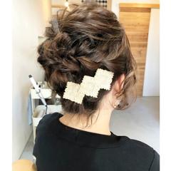 ショート フェミニン アップスタイル ヘアアレンジ ヘアスタイルや髪型の写真・画像