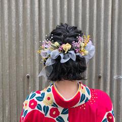 成人式 ヘアアレンジ ガーリー 謝恩会 ヘアスタイルや髪型の写真・画像