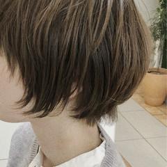 ショートボブ こなれ感 ニュアンス ナチュラル ヘアスタイルや髪型の写真・画像