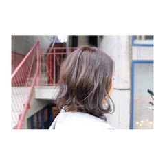 グレージュ 外国人風 ボブ 秋 ヘアスタイルや髪型の写真・画像