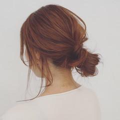 女子会 簡単ヘアアレンジ 涼しげ リラックス ヘアスタイルや髪型の写真・画像