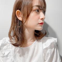 ミディアム ロブ ウルフカット 小顔 ヘアスタイルや髪型の写真・画像