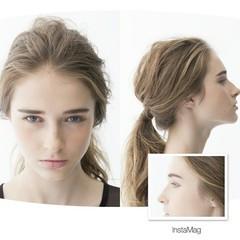 ロング 大人かわいい ヘアアレンジ ルーズ ヘアスタイルや髪型の写真・画像